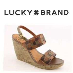 Lucky Brand  Florence  Patchwork Wedge Sandal